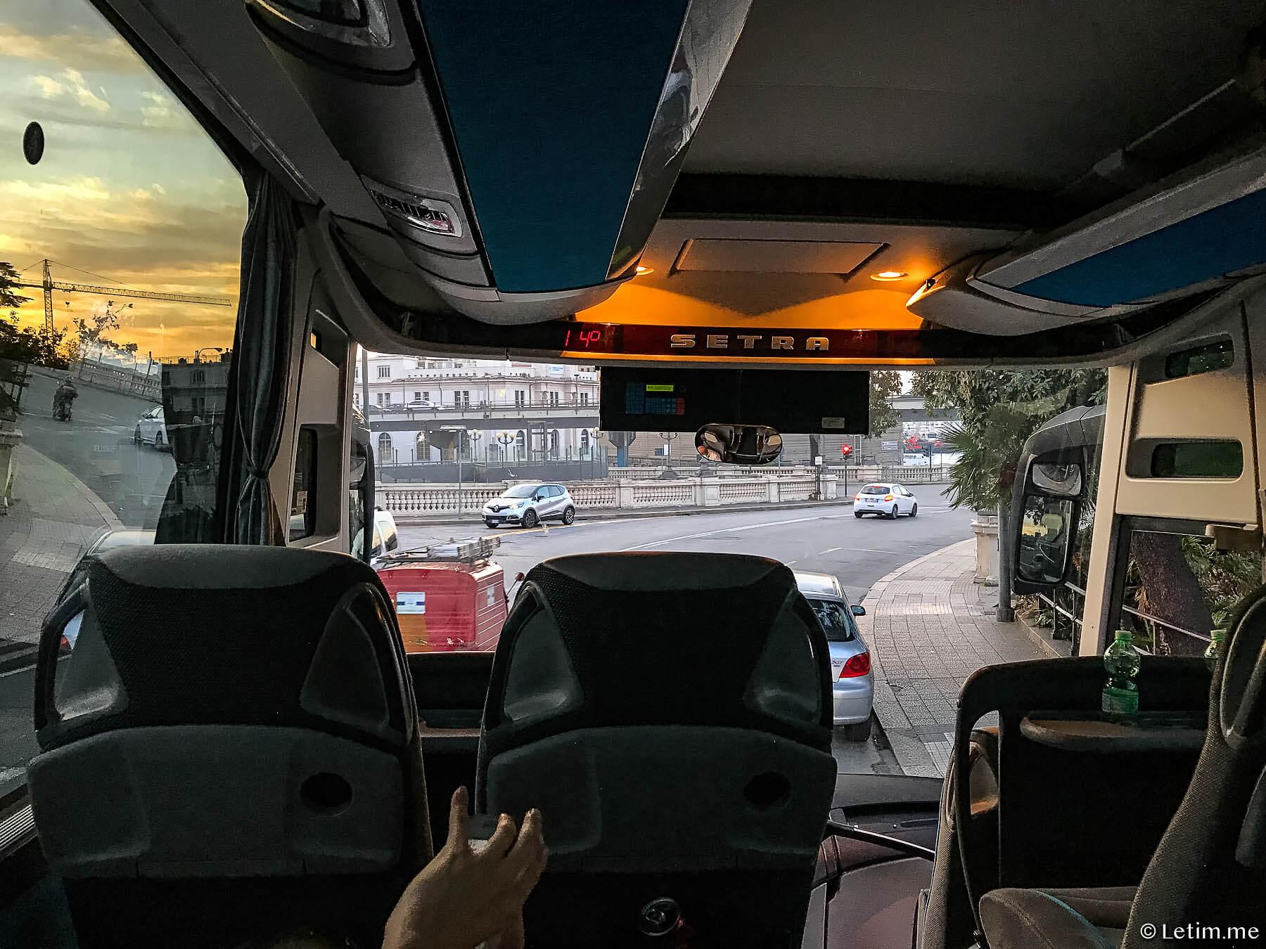 Как добраться из Италии во Францию. Автобус Генуя-Ницца