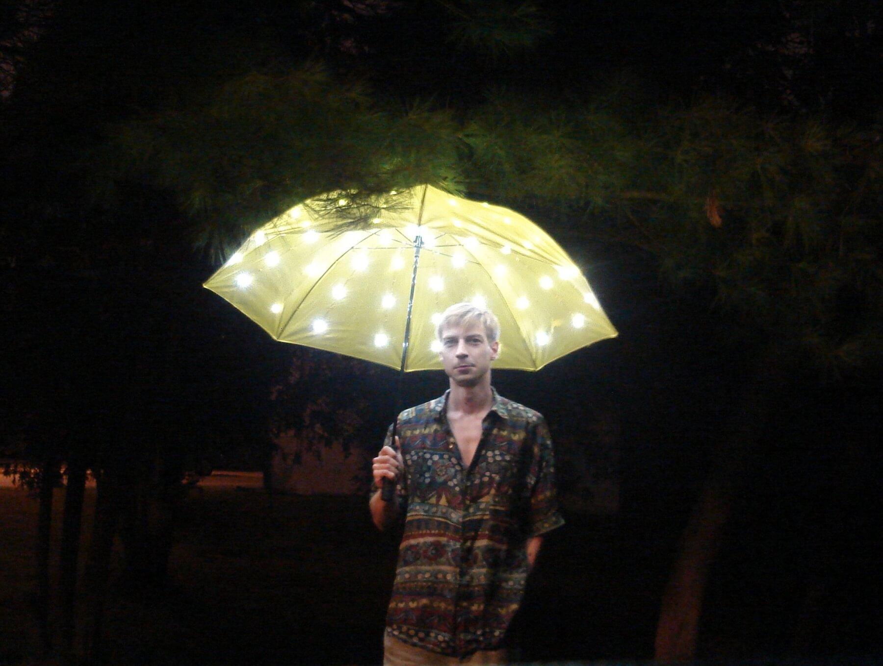 Зонтик имитации солнечного света
